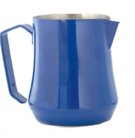 Tulip Milk Pitcher Professional Stainless Steel Blue 16 oz.