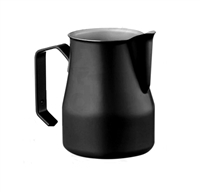 Europa Professional Milk Pitcher 16 oz. Stainless Steel Black