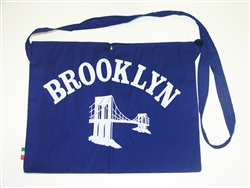 Cycling Feed Bag Musette Brooklyn Blue Retro Race Pro Tote