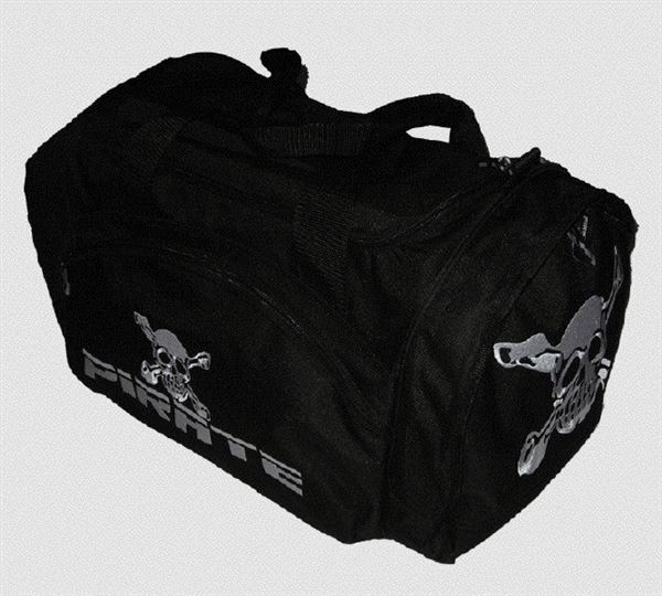 Pirate Sport Bag, gym bag, black logos all sides