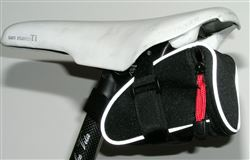 Saddle bag,black 3M reflective aero wedge pack seat
