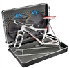 B&W bicycle travel case with ASF,  Black ABS box, 4 wheels