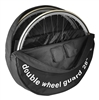 28in Double Wheel Bag Guard Transport Cover Bag wheelbag dual B&W 2 wheels