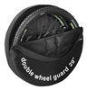 29in Double Wheel Bag Guard Transport Cover Bag wheelbag dual B&W 2 wheels