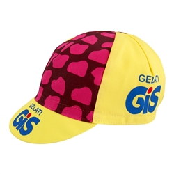 GIS Gelati Yellow Retro Pro Team Cycling Cap