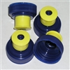 replacement push-pull cap blue/yellow for Gel flasks.