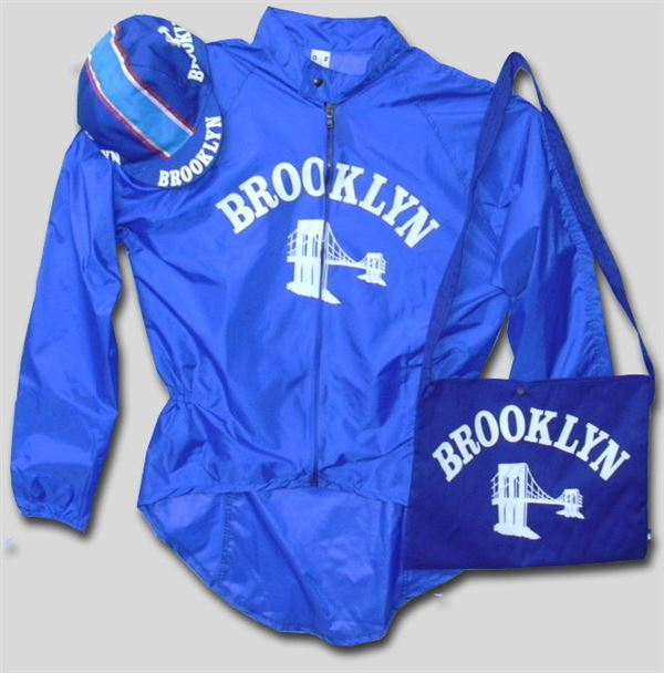 Cycling Rain Jacket Brooklyn Blue PVC Pro
