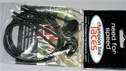 Black shoe lace  cord & stoppe