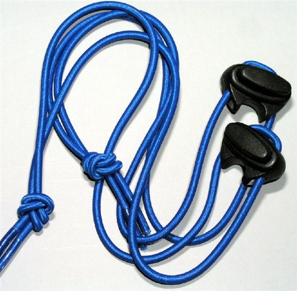 Blue shoe lace cord & stopper