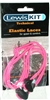 Pink shoe lace  cord & stopper
