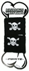 Pirate Cotton Sweat Band pair, BLACK, one size