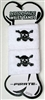 Pirate Cotton Sweat Band pair, WHITE, one size