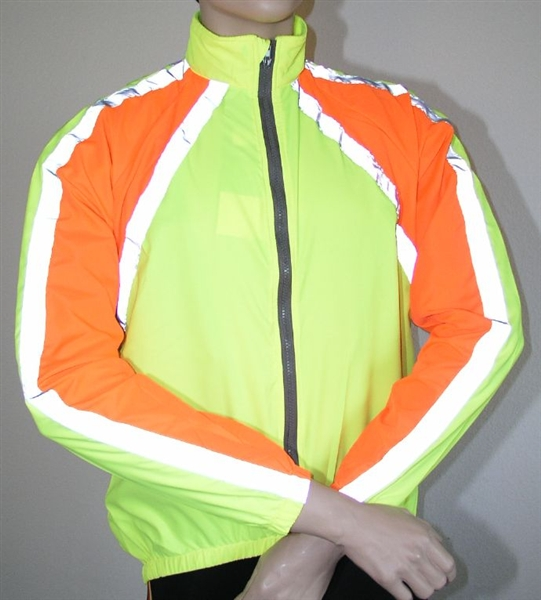 Polaris RBS reflective light weight windproof jacket YELLOWORANGE S-XL