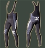 Pirate Long Black Winter warm Bib Cycling tights skull bones Roubaix