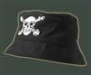 Pirate Black Bucket or Fishing Cap Cotton Light weight