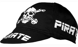 Pirate Team Cycling Race Cap, Cotton, Black, Red, White, Pink, or Orange