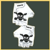 Pirate G Gloves White Short Amara