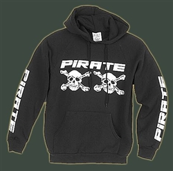 Pirate Skull Hoodie Black Hooded Sweatshirt Muff Pocket