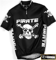 Pirate Cycling Jersey BLACK Short Sleeve, XS-4XL