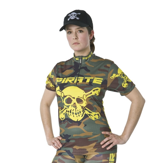 Pirate Cycling Jersey Camo CAMOUFLAGE Short Sleeve
