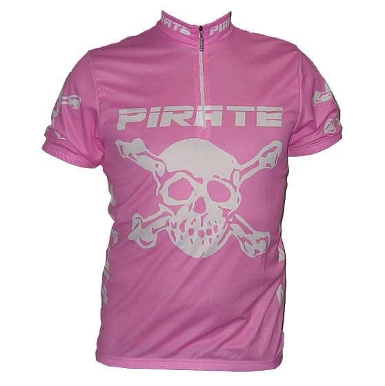 Pirate Cycling Jersey PINK Short Sleeve, XS-3XL