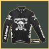 Pirate Long Sleeve Cycling Jersey BLACK Warm Up Jacket