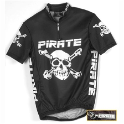 Pirate Kid's Black Cycling Jersey Youth sizes 6-10