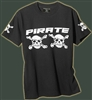 Pirate Black T-Shirt Straight skull crossbones