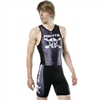 Pirate Black triathlon suit one-piece, quick-drying, thin seat pad