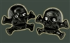 Pirate Valve Caps (Schrader), BLACK, Skull Crossbone