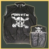 Pirate Cycling Black Wind Vest Skull Bones