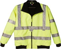 Reflective Fleece Safety Jacket, Class III ANSI 107 & EN 471