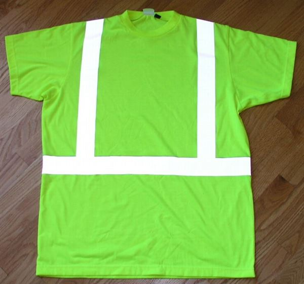 Reflective Safety T-shirt Class 2 ANSI neon yellow 3M