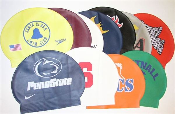 Silicone Swim Cap, as. colors