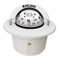 "Ritchie Compasses F-50W Compass Flush Mount 2.75"" Dial White"