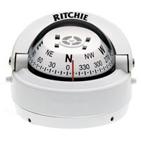 "Ritchie Compasses S-53W Compass Surface Mount 2.75"" Dial Wht."