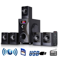 Befree Sound Bfs425 5.1 Channel Surround Bluetooth Speaker System In Black