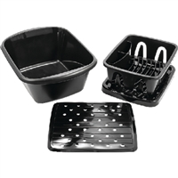 Camco_Marine 43518 Sink Kit Dish Drainer Blk