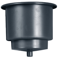 Beckson Marine GH43D-B1 Drink Holder Drain Black