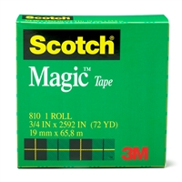 "3M COMPANY MMM810341296 Magic Tape Refill Rolls 3/4"" X 1296"""