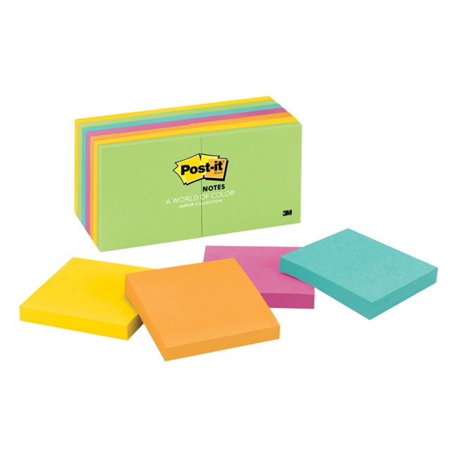 3M 654-14Au Post-It Notes Assorted Ultra Colors 3 In X 14Pads/Pk