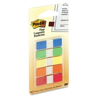 3M 683-5Cf Post-It Flags To Go Assorted 5 Colors/Pk .47 In X 1.7 20 Flags/Color