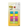 3M 683-5Cb Post-It Flags To Go Assorted Bright .47 In X 1.7 20 Flags/Color 5
