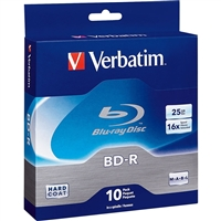 Verbatim Corporation 97238 10Pk Bd-R 25Gb 6X Spindle Box Blu-Ray Recordable