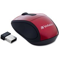 Verbatim Corporation 97540 Wireless Optical Mouse Red Travel Nano Receiver