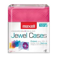 Maxell 190072 Cd Storage Case Jewel Box Color Blue Gold Teal Red And Chocolate