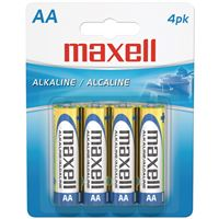 Maxell 723465 4Pk Aa Alkaline Batteries Premium Quality Carded