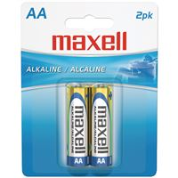 Maxell 723407 Alkaline Batteries Lr6 2Bp Aa Cell 2Pk