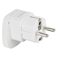 Travelon 12151-800 Europe Grounded Adapter Power Outlet Plug White