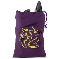 Travelon 42201 Pocket Packs Shoe Bag Purple